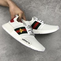 Trendsetter Gucci x Adidas Woman Embroidery Little Bee Running Sneakers Sport Shoes