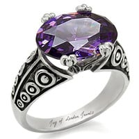 SALE   A Perfect Celtic Style 6CT Purple Amethyst Engagement Ring