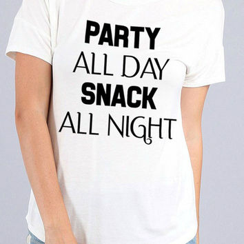 Party All Day Tee - White