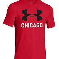 Under Armour Big-Logo Chicago Tee - Red/Black