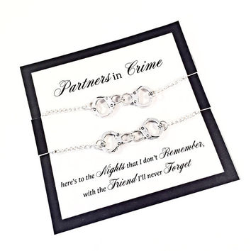 Partners in Crime Friendship Bracelet Sets, Best Friends Gift
