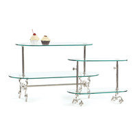 Go Home Small Two Tier Adjustable Pastry Stand - 10700