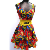 Holy Rockabilly Dress Batman -- Custom Size