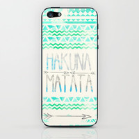 Hakuna Matata iPhone & iPod Skin by Sara Eshak | Society6