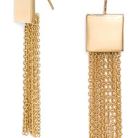 Women's BaubleBar 'Diana' Fringe Drop Earrings - Gold
