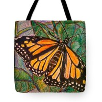 King On A Leaf Tote Bag