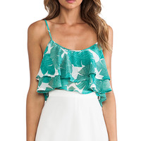 Show Me Your Mumu Lil Miss Crop Top in Green