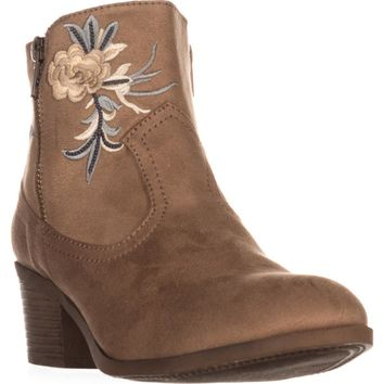 Rock & Candy Loraina Western Ankle Boots, Sand, 9 US