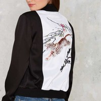 Nasty Gal Wild In The Streets Bomber Jacket