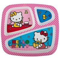Zak! Designs® Hello Kitty® Divided Kid's Dinner Plate