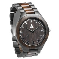 Stainless Steel Wood Watch // Ebony Theo