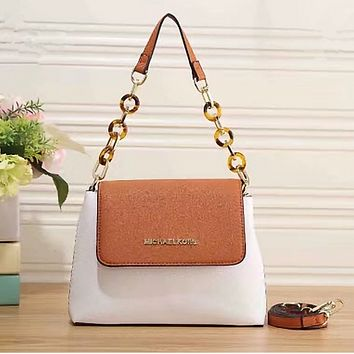 MK Women Shopping Leather Tote Handbag Shoulder Bag