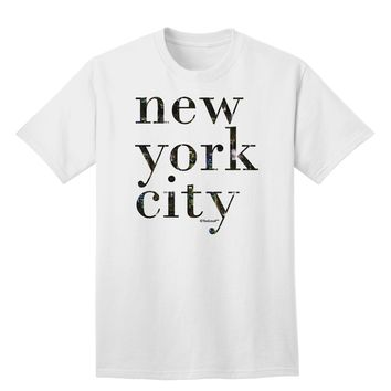 New York City - City Lights Adult T-Shirt by TooLoud