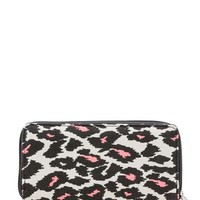 Color Pop Leopard Canvas wallet