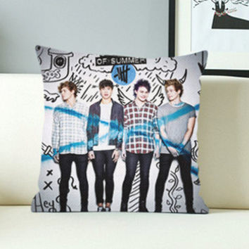 5 seconds of summer - Design Pillow Case with Black/White Color.