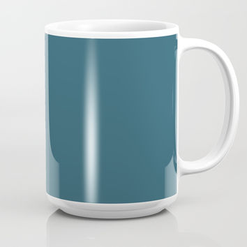 Teal The World (Blue) Mug by Moonshine Paradise