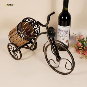 European Vintage Tricycle Wine Bottle Holder FREE SINGLE-ITEM U.S. SHIPPING*