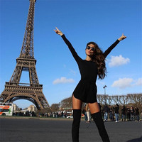 Long Sleeve Round Neck Rompers Jumpsuits