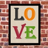 LOVE Instant Dowload Wall Art , Valentine's Day Decor , Love digital print