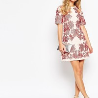 ASOS Floral Embroidered Shift Dress at asos.com