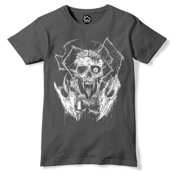 One Eyed Skull Death Metal Band Music Rock T Shirt Top Goth