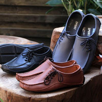 Genuine Leather Driving Moccasins