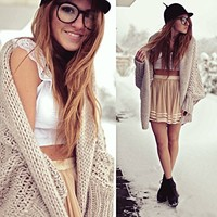 Loose Batwing Cardigan Sweater coat