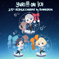 "2.5"" Yuri on Ice Acrylic Charms (double sided) [BATCH 2 PREORDERS]"