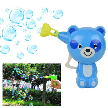 Automatic Lovely Cartoon Animal Bubble Gun PP Children Soap Water Bubbles Gun Kid Outdoor Toy Gun bubble blower machine wand