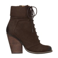 Remix Distressed Suede Lace Up Booties | Max Studio Official by Leon Max | MaxStudio.com