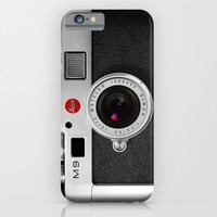 classic retro Black silver Leather vintage camera iPhone 4 4s 5 5c, ipod, ipad case iPhone & iPod Case by Three Second
