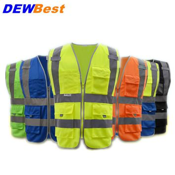 Vest Safety Reflective Clothing Degree Neon Belt Fit Running Cycling Sport Outdoor Gear Stripe Jacket