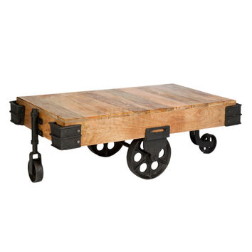 Best industrial cart coffee table products on wanelo for Coffee table 80 x 50