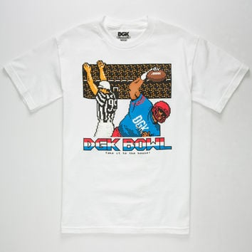 Dgk Bowl Mens T-Shirt White  In Sizes