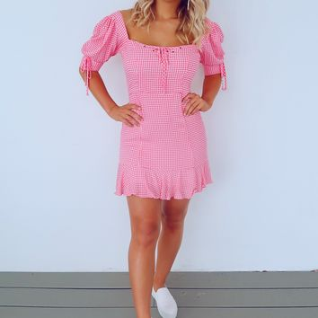 Feeling Pretty Dress: Pink/Ivory