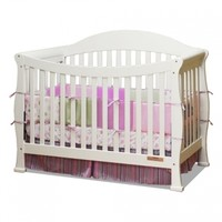 AFG 4588W Allie 3-in-1 Convertible Solid Wood Crib in White Finish