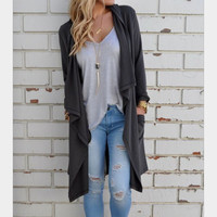 Knitted long-sleeved cardigan fashion