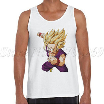 The Dragon Ball Z men tank tops Gohan cartoon printed male casual Vest hipster super saiyan basic cool singlets
