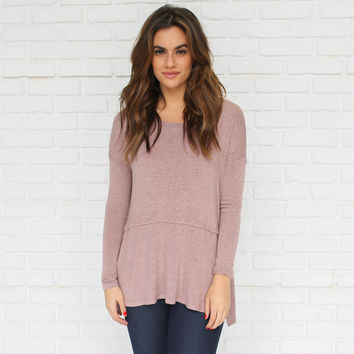 Change It Up Knit Sweater Top In Pink