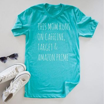This Mom Runs Graphic Tee