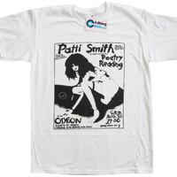 Patti Smith Gig Poster Flyer T Shirt U.K Punk Rock band Music 70's Retro 1970's