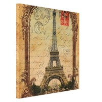 paris landscape vintage eiffel tower decor