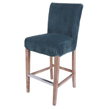 Milton Fabric Bar Stool, Midnight Thames Blue