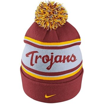 Nike USC Trojans Team Color Knit Beanie - Cardinal/White