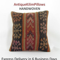 kilim rug pillow kilim pillow cover boho couch pillow cover couch pillow case decorative throw pillow bedding bedroom decor pillows 000660