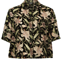 Floral Devore Shirt - New In This Week  - New In