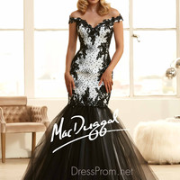 Off The Shoulder Sweetheart Prom Ball Gown By Mac Duggal 65025H