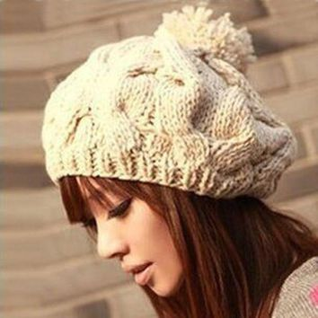 DCCKU62 Free shipping,1pcs,2016 new Korean version of the pumpkin hat hand-knitted hats autumn and winter Wool cap,Warm hat,Multicolor