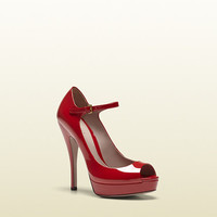 lisbeth red patent leather mary jane open toe pump  310081BNC006523