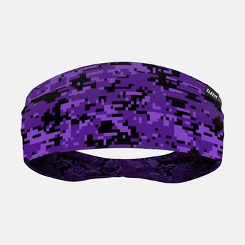 Digital Camo Purple Black Headband
